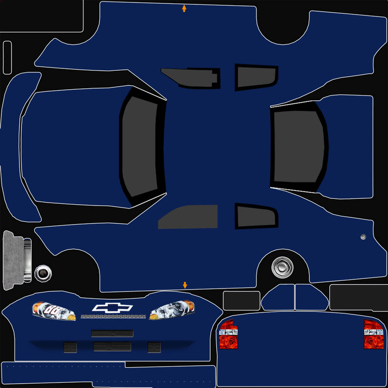 Nascar car template the image kid has it for Blank race car templates
