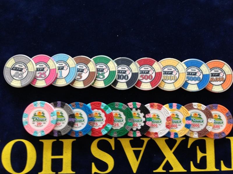 Samurai palace poker chips