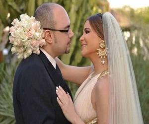 بالصور كارول سماحة ووليد مصطفى في ليلة الزفاف