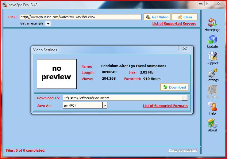 save2pc PRO 3 4 3 0 known as YouTube Downloader preview 1
