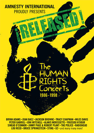 U2 sur la prochaine compil 6DVD de 1986 d'Amnesty International