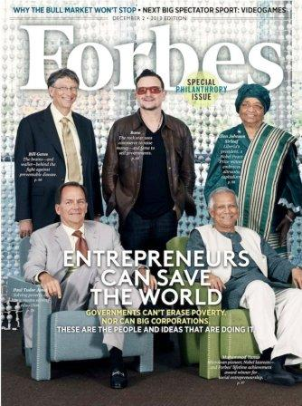 Bono en couverture de Forbes