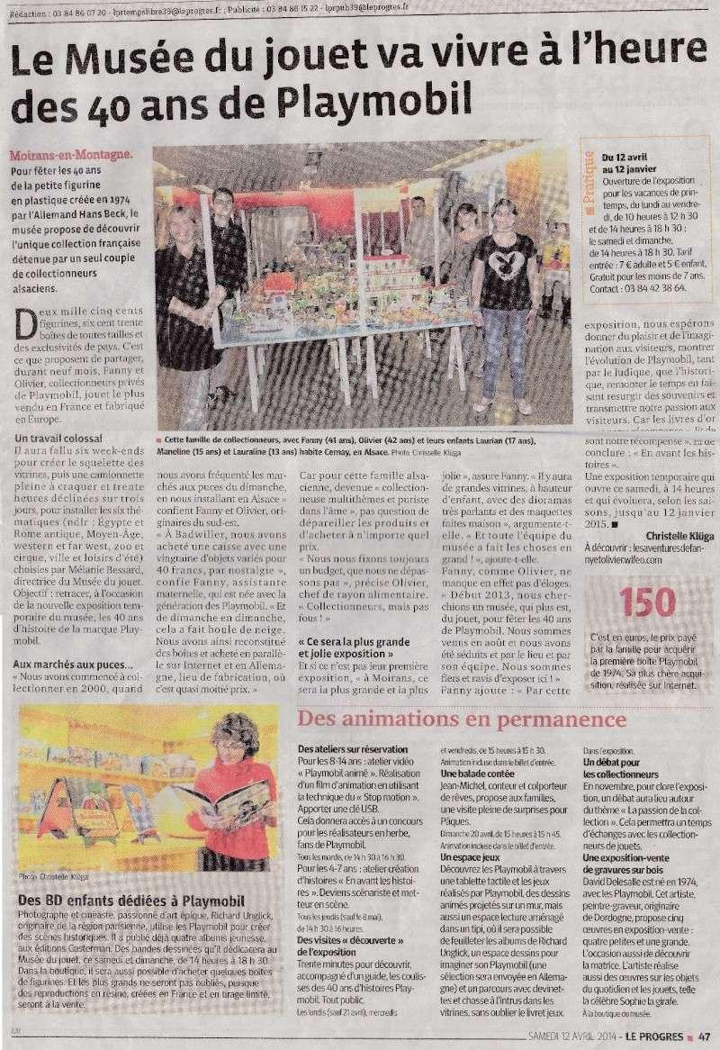 journal local du jura le progres du samedi 12 avril 2014 expo fanny et olivier