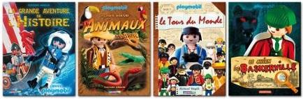 les 4 livres Playmobil de Richard Unglik