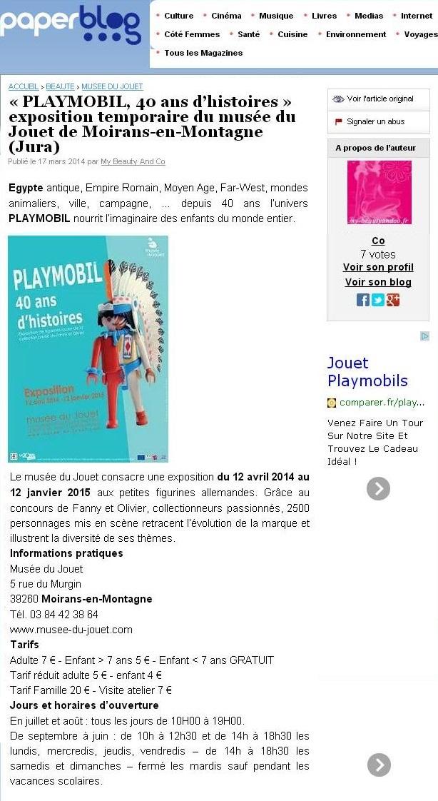 paperblog expo playmobil fanny et olivier