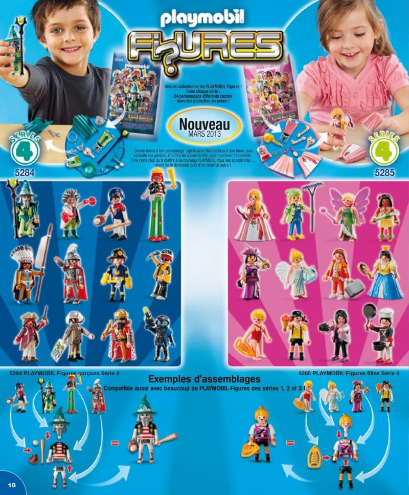 playmobil figurine série 4 fanny et olivier