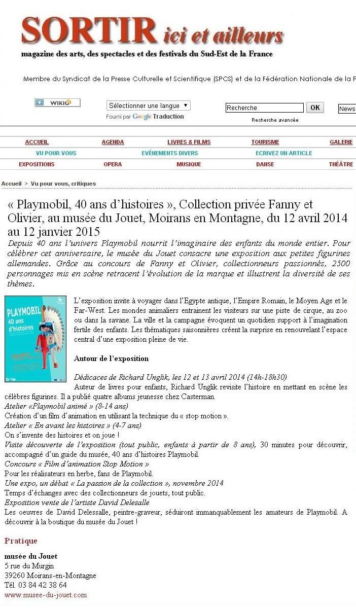 sortir magazine expo playmobil fanny et olivier
