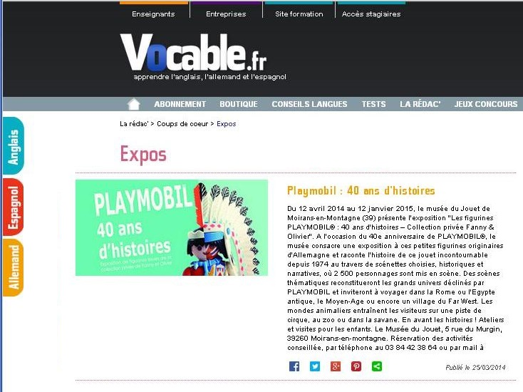 expo playmobil fanny et olivier