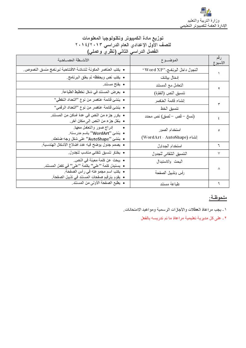 توزيع منهج الكمبيوتر للمرحلة الاعدادية الترم الثانى بعد الحذف والتعديل المنهاج المصري uuousu10.png