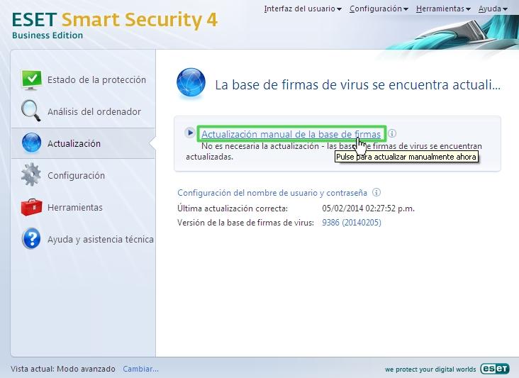 Usuario y Contraseña para Eset Nod32 y eset smart security