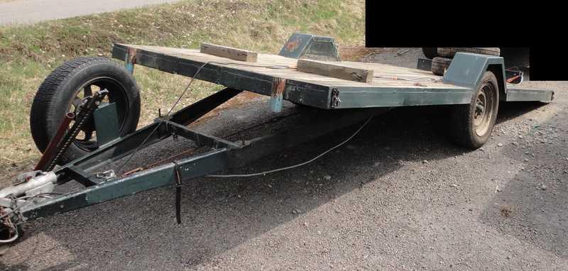 remorque basculante a partir d 39 un chassis de caravane. Black Bedroom Furniture Sets. Home Design Ideas