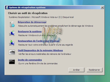 Resolu mon pc ne d marre plus for Fenetre windows outils
