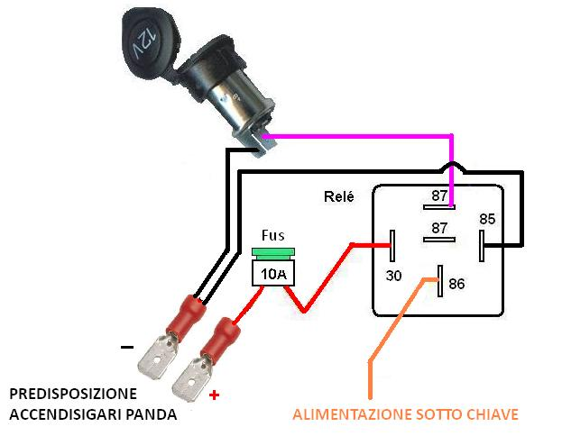 Schema Elettrico Selettore A Chiave : Schema relè termico fare di una mosca