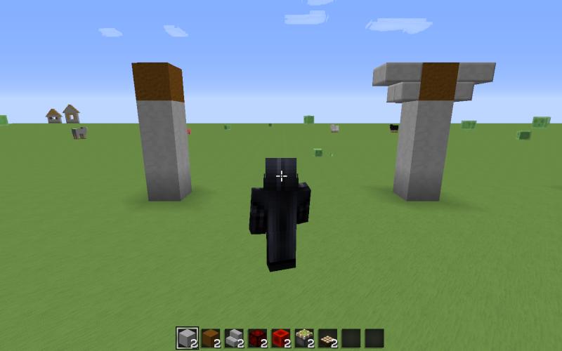 comme vous le voyez je garde lavant libre daccs pour la suite et jutilise un bloc de terre comme base pour les support ce bloc sera appeler - Lampadaire Minecraft