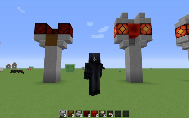 3me tape placement du haut du lampadaire du piston collant et du bloc de redstone tape faire dans cet ordre sinon prise de tte assure - Lampadaire Minecraft