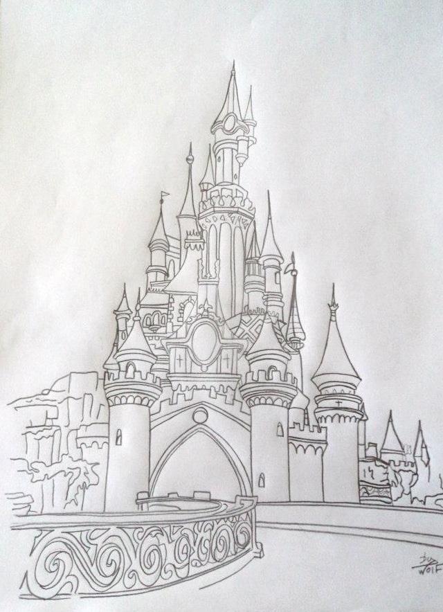 Les cr as de cupcake - Chateau disney dessin ...