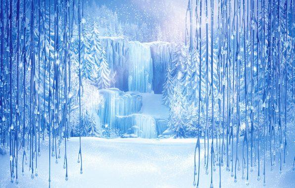 fond reine des neiges