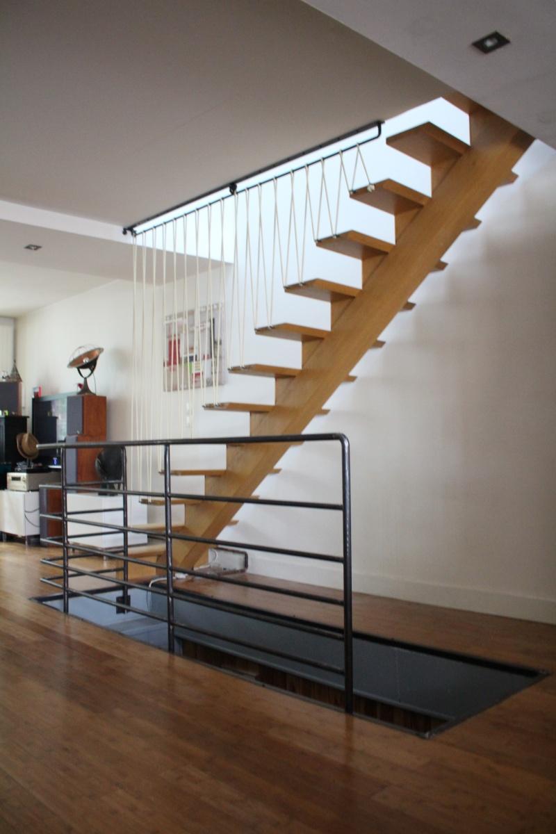 Garde corps en acier sur mesures for Comcouleur escalier interieur