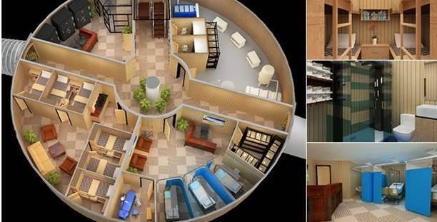 abri mobile shelter bungalow. Black Bedroom Furniture Sets. Home Design Ideas