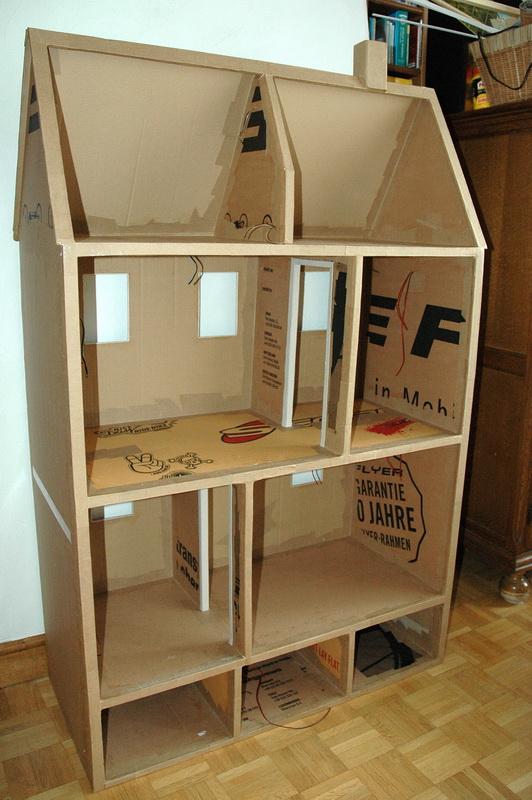 maison de poup es en carton doubles cannelures pour poup es paola reina et poup es de la m me. Black Bedroom Furniture Sets. Home Design Ideas