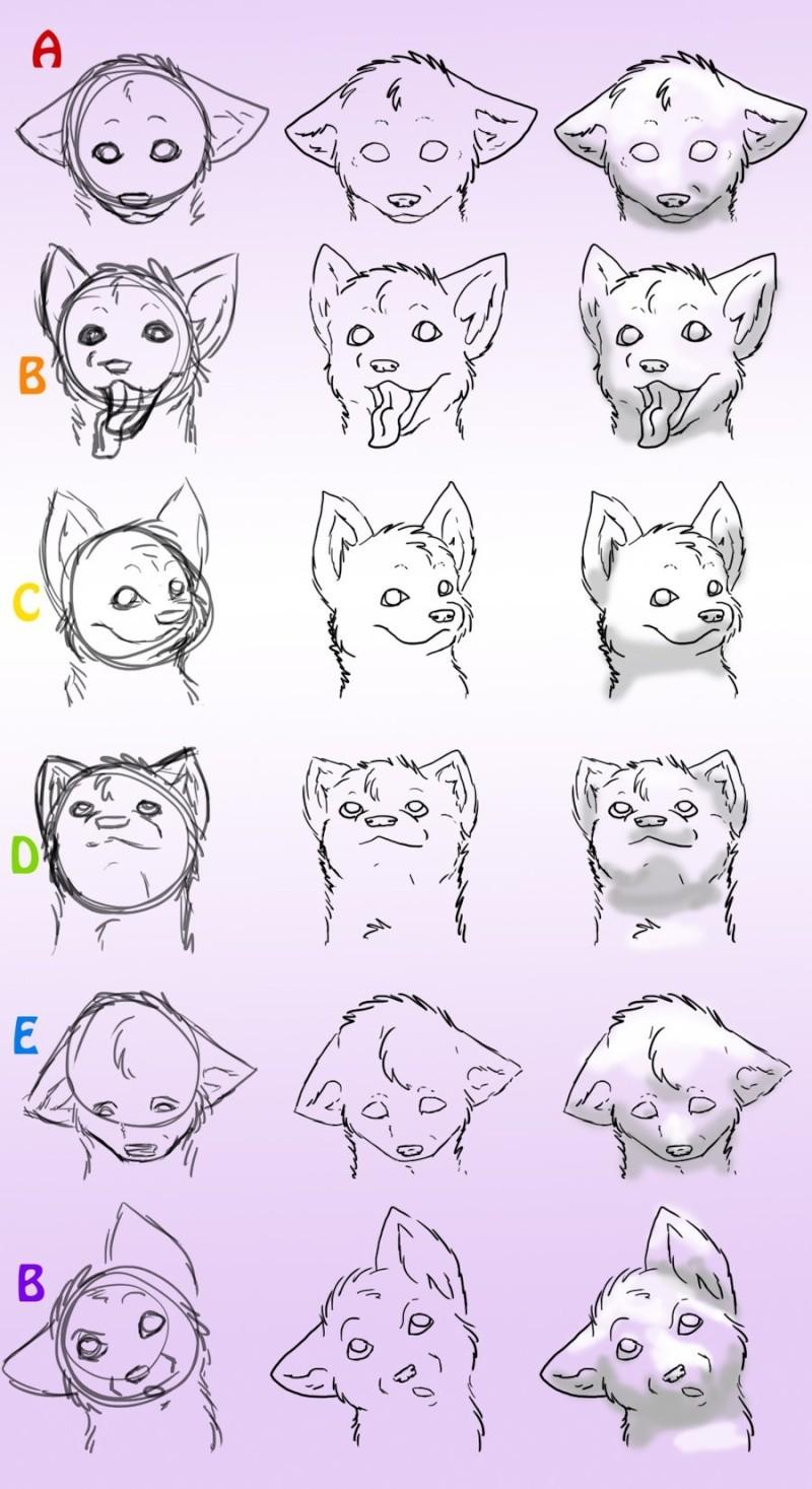 Favori Aide] dessiner un chiot/chien GF83