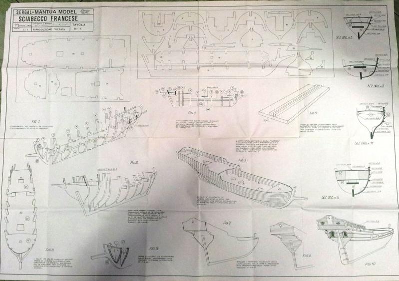 Primo modello sciabecco francese for Creare piani di costruzione