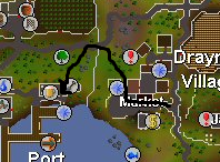 how to get to port khazard from varrock