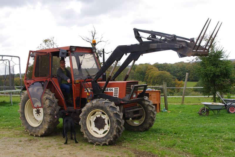 Chargeur - Tracteur avec fourche ...