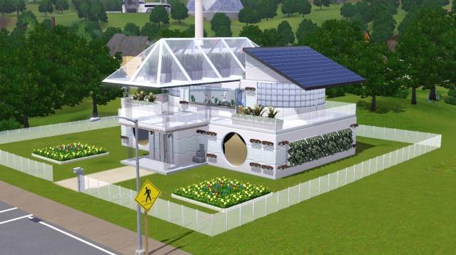 Votes ma maison est une dalle de b ton for Plan maison futuriste
